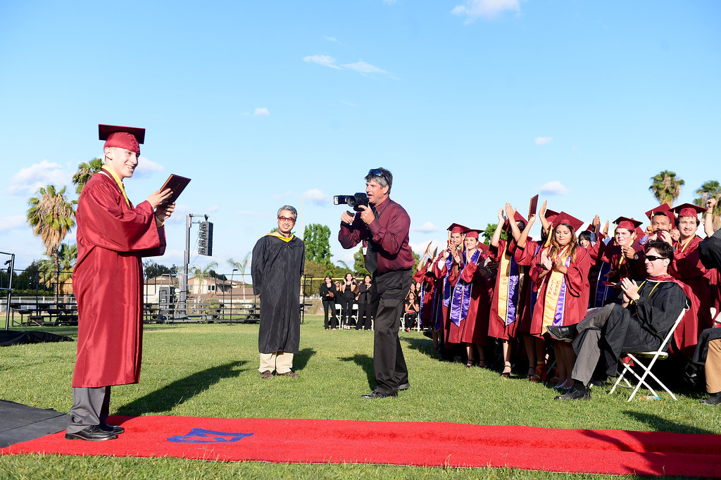 Description of . Wilson High School holds their forty-seventh commencement ceremony Tuesday evening, May 20, 2014 at the Hacienda Heights school. (Photo by Sarah Reingewirtz/Pasadena Star-News)