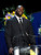 Shaquille O'Neal speaks at the Jerry Buss Memorial Service at Nokia Theatre, Thursday, February 21, 2013. (Michael Owen Baker/Staff Photographer)