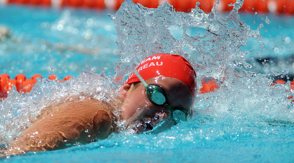 Description of . Glendora's Nicole Gautreau wins the 500 freestyle during the CIF-SS Division II swim finals at Riverside City College on Saturday, May 11, 2013 in Riverside, Calif.  (Keith Birmingham Pasadena Star-News)
