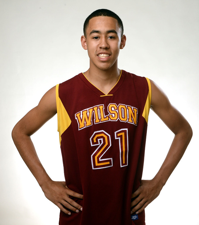 Description of . Wilson's Kevin Price, All-Area basketball Players at the San Gabriel Valley Tribune in West Covina, Calif., on Tuesday, April 8, 2014.  (Keith Birmingham Pasadena Star-News)