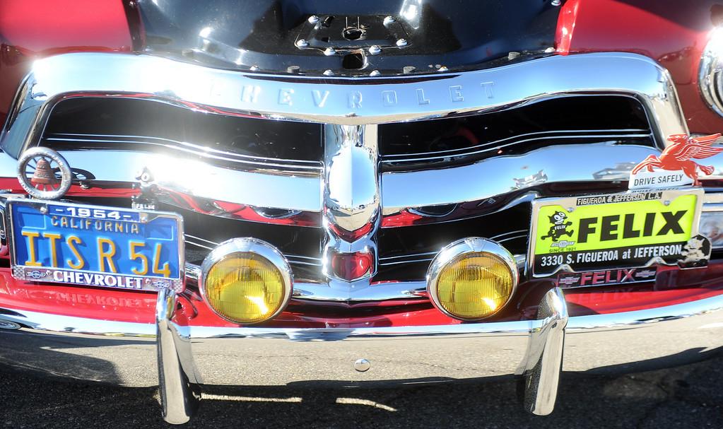 Description of . 1954 Chevy truck during the 4th annual La Habra Highlanders car show at La Habra High School in La Habra Calif. on Saturday, Sept. 7, 2013.   (Photo by Keith Birmingham/Pasadena Star-News)