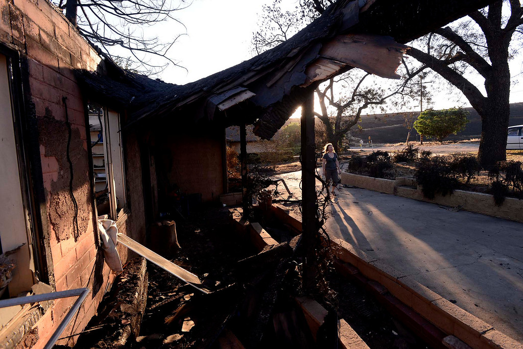 Description of . A view of the Joe Kiener residence along Mesa Road in Banning May 2, 2013.  The Kiener residence was the only structure to burn in the Summit Fire.  GABRIEL LUIS ACOSTA/STAFF PHOTOGRAPHER.