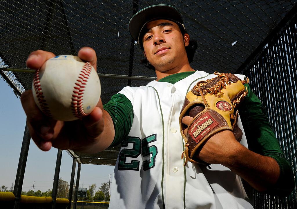 Description of . Chris Mathewson has been named Player of the Year to The Sun's All Area baseball team. Mathewson pitches for Kaiser High School. Rachel Luna staff photographer The Sun.