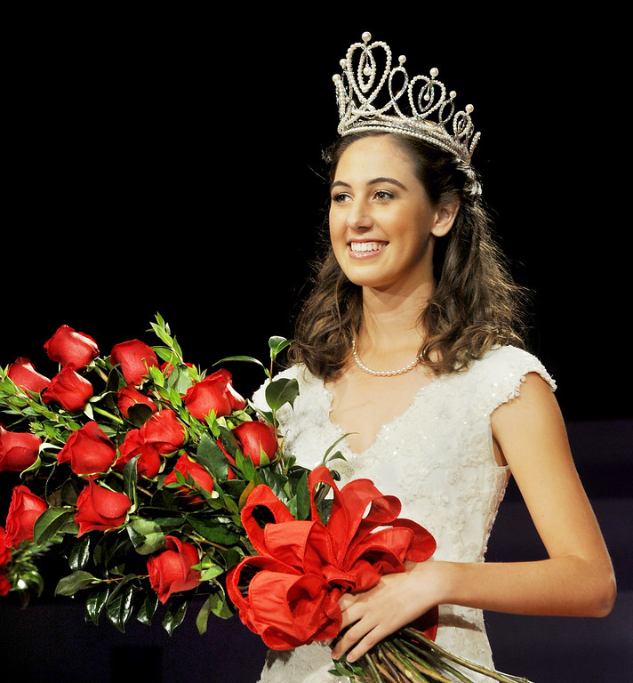 Description of . Ana Marie Acosta, 17, who attends Polytechnic School  was name Tournament of Roses Announcement and Coronation of the 96th Rose Queen and Presentation of the 2014 Royal Court held at First Church of the Nazarene of PasadenaThursday, October 24, 2013. (Photo by Walt Mancini/Pasadena Star-News)