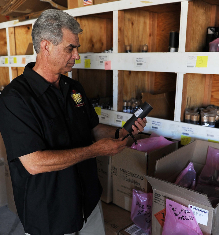 Description of . President and CEO  Jim Souza, of Pyro Spectaculars Inc. in Rialto.LaFonzo Carter/ Staff Photographer