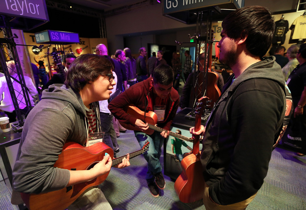 Description of . ANAHEIM, CA - JANUARY 23:  A general view of atmosphere the 2014 National Association of Music Merchants show at the Anaheim Convention Center on January 23, 2014 in Anaheim, California.  (Photo by Jesse Grant/Getty Images for NAMM)