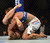 UFC womens bantamweight champion Ronda Rousey battles Liz Carmouche during their UFC 157 match at the Honda Center in Anaheim, CA Saturday, February 23, 2013. Rousey beat Carmouche via first round submission. (Hans Gutknecht/Staff Photographer)