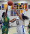 Long Beach Poly's Jada Matthews (22) blocks the shot by Bishop Amat's Mauriana Clayton (23) in the first half of a CIF State Southern California Regional semifinal basketball game against Long Beach Poly at Bishop Amat High School on Tuesday, March 12, 2013 in La Puente, Calif. Long Beach Poly won 52-34. 