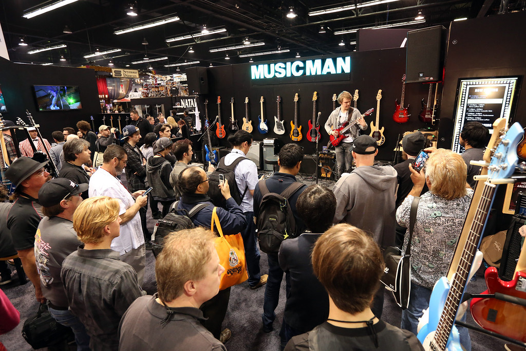 Description of . ANAHEIM, CA - JANUARY 23:  A general view of atmosphere at the 2014 National Association of Music Merchants show at the Anaheim Convention Center on January 23, 2014 in Anaheim, California.  (Photo by Jesse Grant/Getty Images for NAMM)