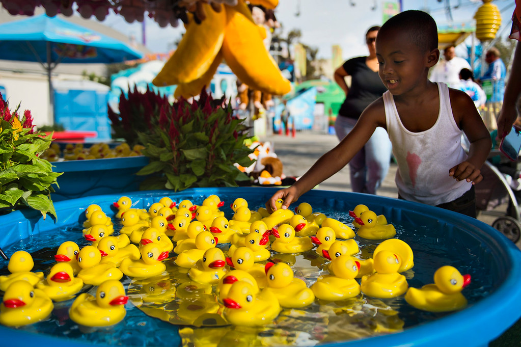 Description of . Opening day of L.A. County Fair in Pomona on Friday, Aug. 30, 2013. (Staff photo by Watchara Phomicinda/ San Gabriel Valley Tribune)
