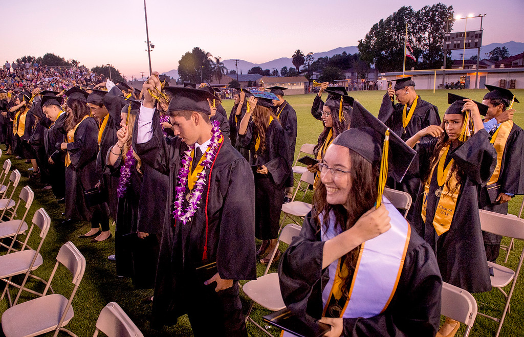 Description of . Northview High graduation ceremony at Covina District Field June 11, 2014.   (Staff photo by Leo Jarzomb/San Gabriel Valley Tribune)