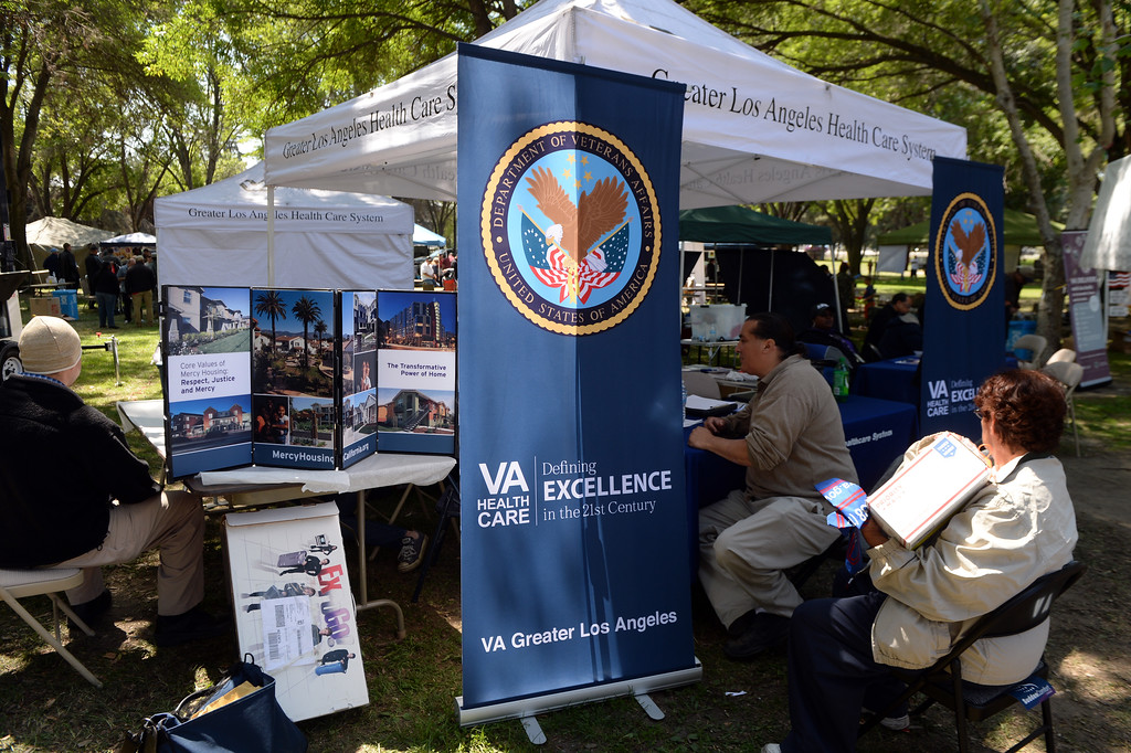 "Description of . ""Heroes in the Shadows"" San Gabriel Valley Homeless Stand Down, A three day event presented by The Vet Hunters Project and The SGV Veterans Employment Committee aims to combat Homelessness by providing on site assistance, services and resources to those in need at Whittier Narrows Recreation Park in South El Monte, Calif., on Saturday, April 5, 2014.  (Keith Birmingham Pasadena Star-News)"
