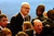 Phil Jackson and Kobe Bryant talk before the Jerry Buss Memorial Service at Nokia Theatre, Thursday, February 21, 2013. (Michael Owen Baker/Staff Photographer)