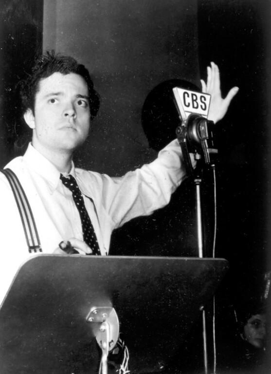 Description of . On October 30, 1938, Orson Welles presented a radio interpretation of H.G. Wells'