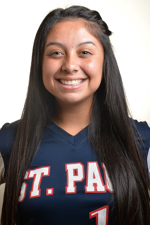 Description of . Koreen Orozco from St. Paul High School was selected to the Whittier Daily News All-Area Softball team on Tuesday June 10, 2014. (Photo by Keith Durflinger/Whittier Daily News)