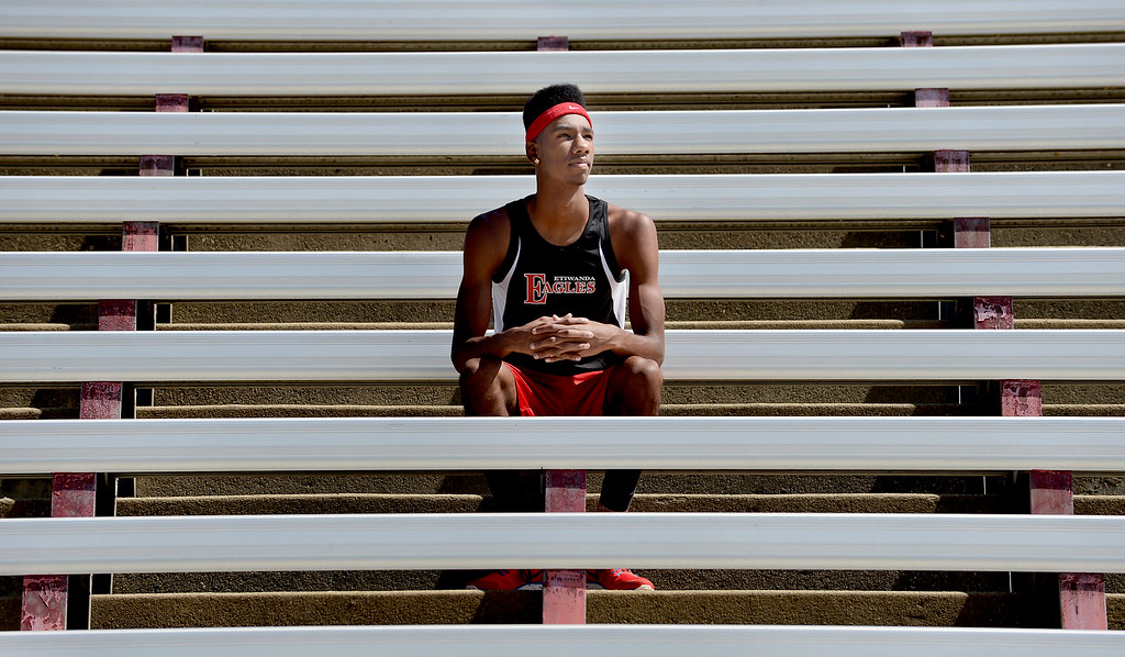 Description of . Miles Parish, of Etiwanda High School, has been named Athlete of the Year for The Sun's All-Area track team. Jenn Maher staff photo The Sun.