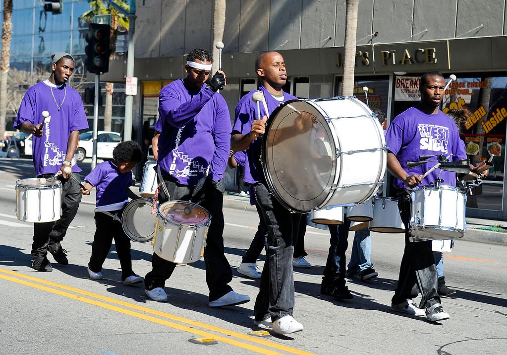 Description of . The San Bernardino Black Culture Foundation holds its 43rd annual Black History Parade in downtown San Bernardino on Saturday, Feb. 4, 2012.  (Staff file photo/The Sun)