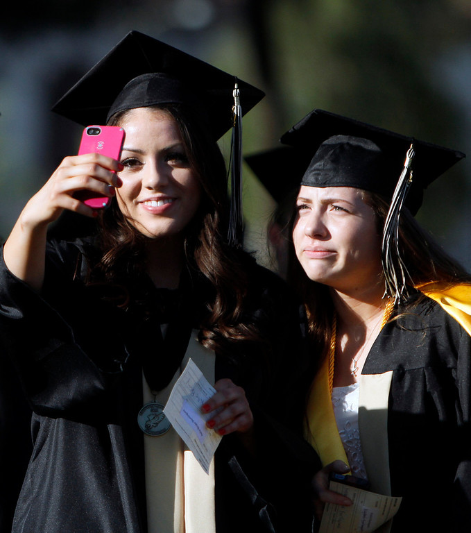Description of . Citrus Valley High School graduation ceremony on Wednesday, June 11, 2014 at the Redlands Bowl in Redlands, Ca.  (Photo by Micah Escamilla/Redlands Daily Facts)