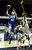 Agoura #12 Natalie Bradley goes up against Gahr #3 Jewelyn Sawyer. Agoura defeated Gahr 60-39 in the CIF-SS Division III-AAA Girls Basketball Championship at the Anaheim Convention Center in Anaheim, CA 2/23/2013(John McCoy/Staff Photographer)