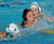 02-16-2012--(LANG Staff Photo by Sean Hiller)- Palos Verdes girls water polo defeated Upland 10-8 in Saturday's CIF Southern Section Division III quarterfinal at Palos Verdes High School. PV's Ellie D'Ambra, center, is heavily guarded by Upland's Amanda Jarvis (7), left, and Jessica Sapp (13).
