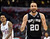 The Spurs' Manu Ginobili #20 reacts during their game against the Clippers at the Staples Center in Los Angeles Friday, February  21, 2013. The Spurs beat the Clippers 116-90. (Hans Gutknecht/Staff Photographer)