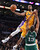 Lakers Earl Clark goes up over Celtics' Fab Melo for two points during second half action at Staples Wednesday. Lakers defeated the Celtics 113-99.  Photo by David Crane/Staff Photographer