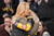 Jeanie Buss, daughter of Jerry Buss, gets a hug from Dyan Cannon before the start of the Lakers game Wednesday.  Jerry Buss passed away last week.  Photo by David Crane/Staff Photographer