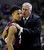 Montana head coach Wayne Tinkle, right, talks with Spencer Coleman during the first half of a second-round game in the NCAA college basketball tournament against Syracuse in San Jose, Calif., Thursday, March 21, 2013. (AP Photo/Ben Margot)