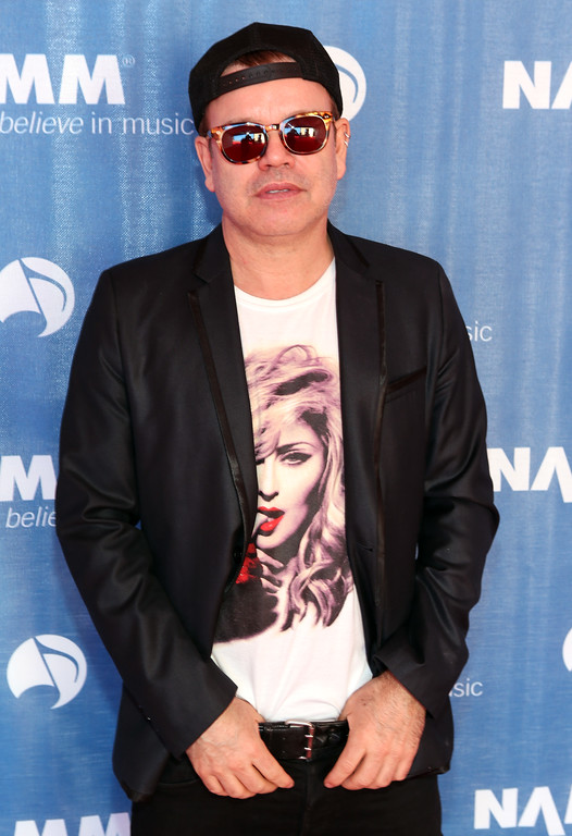 Description of . ANAHEIM, CA - JANUARY 23:  DJ Paul Oakenfold attends the 2014 National Association of Music Merchants show media preview day at the Anaheim Convention Center on January 23, 2014 in Anaheim, California.  (Photo by Jesse Grant/Getty Images for NAMM)
