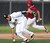 Northview third baseman Adrian Sabatino miss plays a ground ball by Covina's Daziel Rodriguez (not pictured) in the sixth inning of a prep baseball game at Northview High School on Tuesday, March 19, 2013 in Covina, Calif. Covina won 4-3. 