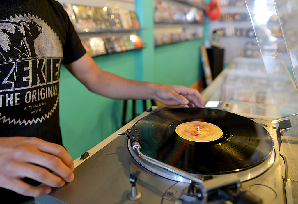 Description of . Redlands Vinyl Records and Collectibles recently opened its doors in Redlands to offer a second place in town to collect records and other collectibles.  (Photo by Rick Sforza/Redlands Daily Facts)