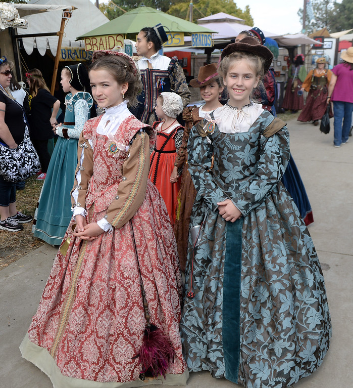 Description of . Opening day of the Renaissance Pleasure Faire as many dress in period clothing at Santa Fe Dam Recreation Area in Irwindale, Calif., on Saturday, April 5, 2014. 