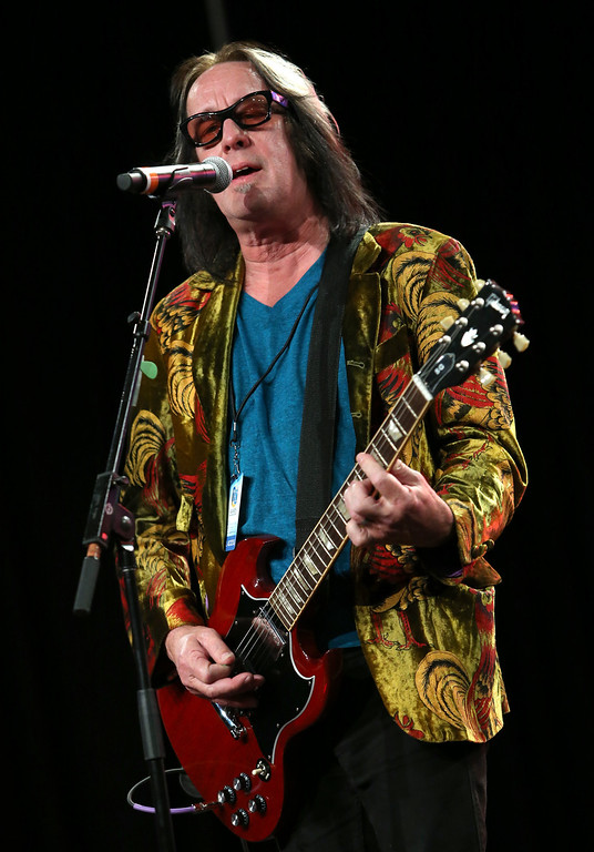 Description of . ANAHEIM, CA - JANUARY 24:  Musician Todd Rundgren attends the NAMM Tec Awards at the Anaheim Hilton on January 24, 2014 in Anaheim, California.  (Photo by Jesse Grant/Getty Images for NAMM)