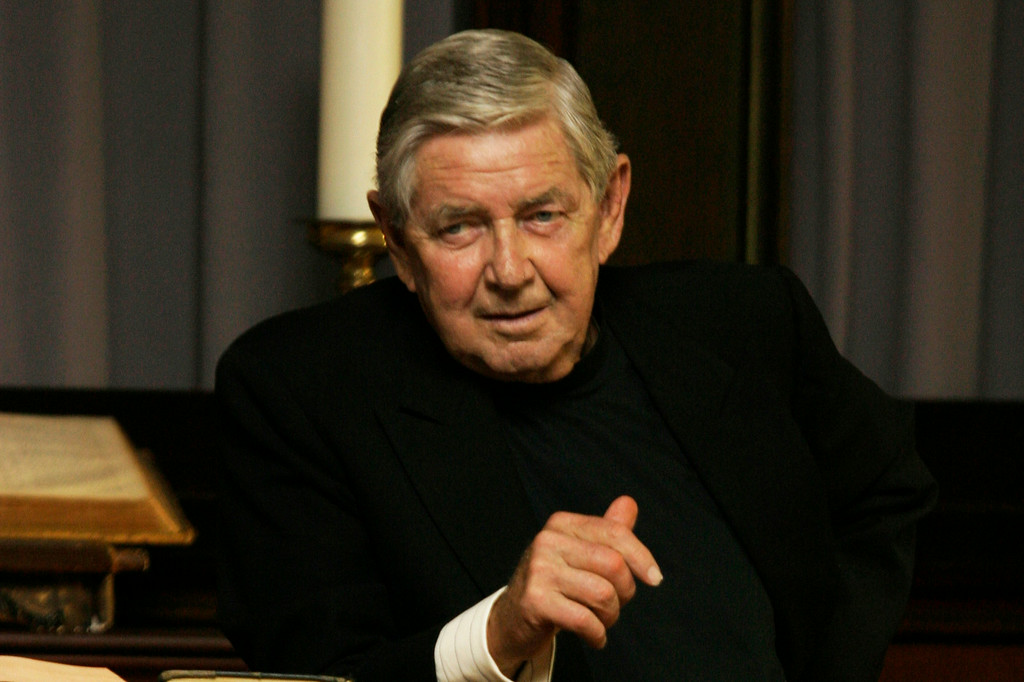 Description of . This photo released by HBO shows Ralph Waite as Reverend Norman Balthus in the TV series,