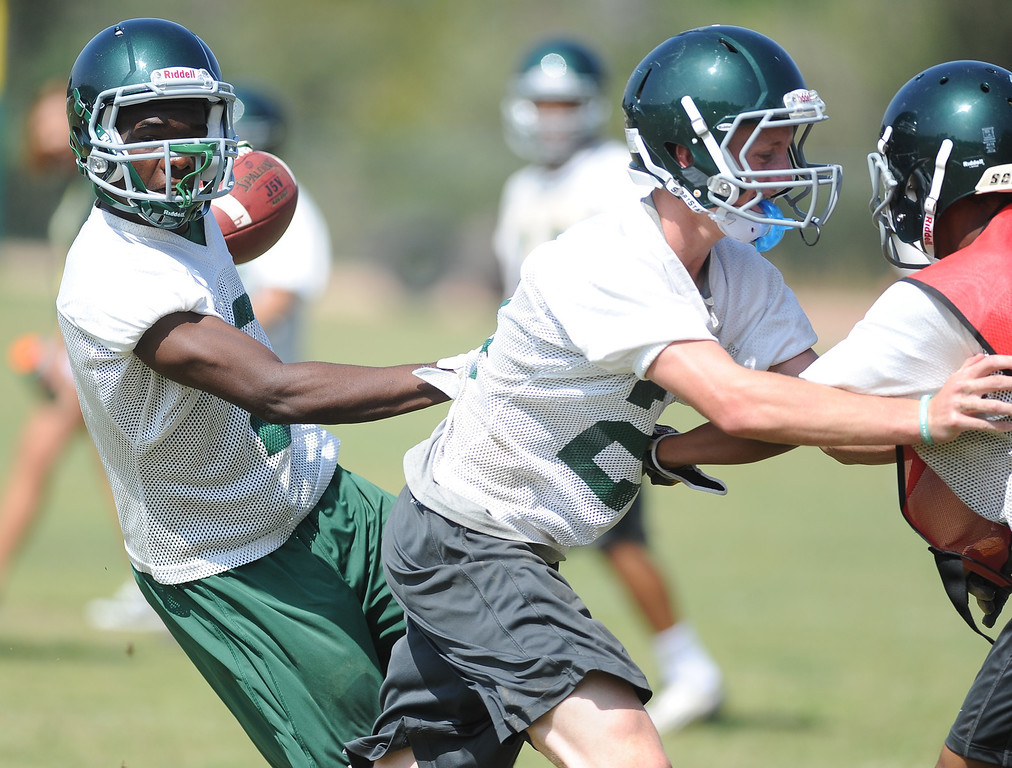 Description of . Football practice at South Hills High School on Friday, Aug. 9, 2013 in West Covina, Calif.   (Keith Birmingham/Pasadena Star-News)