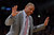 Celtics' coach Doc Rivers reacts to a technical foul during second half action at Staples Wednesday. Lakers defeated the Celtics 113-99.  Photo by David Crane/Staff Photographer
