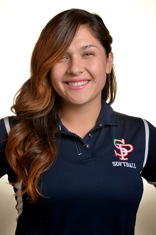 Description of . Krystal Gutierrez from St. Paul High School was selected to the Whittier Daily News All-Area Softball team on Tuesday June 10, 2014. (Photo by Keith Durflinger/Whittier Daily News)