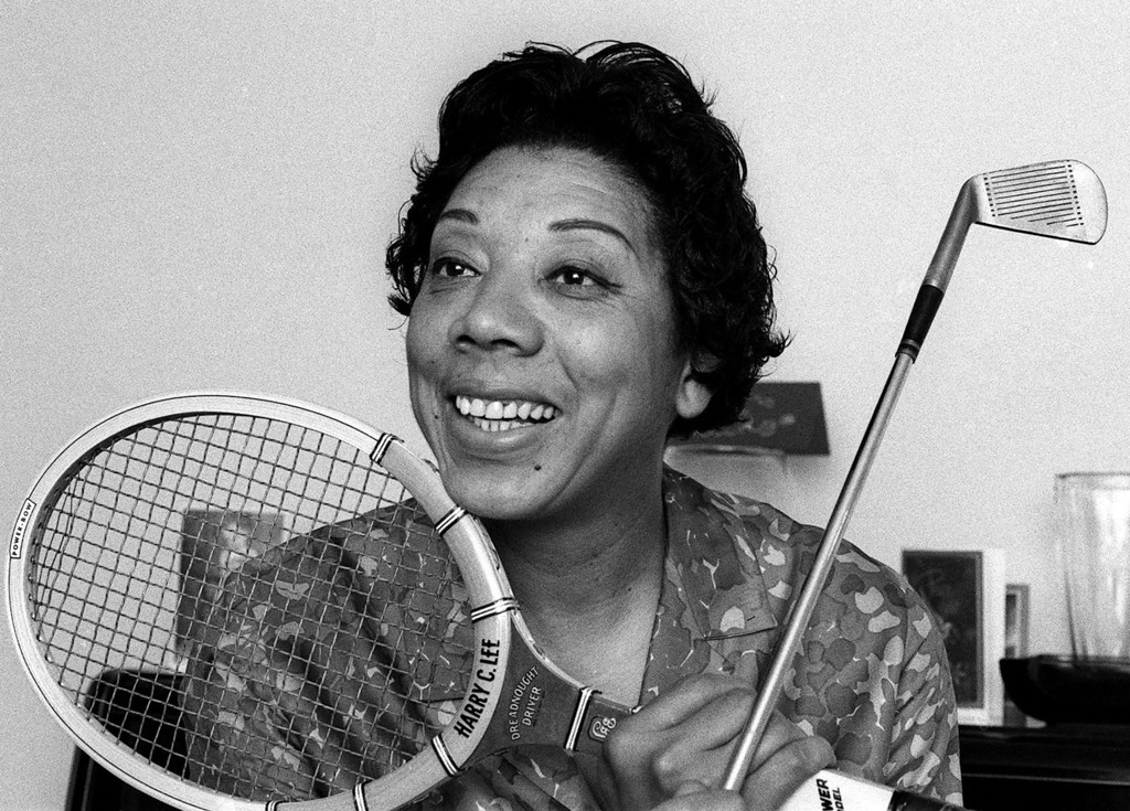 Description of . Althea Gibson is shown in her East Orange, N.J. home in 1968.  (AP Photo/Marty Lederhandler)