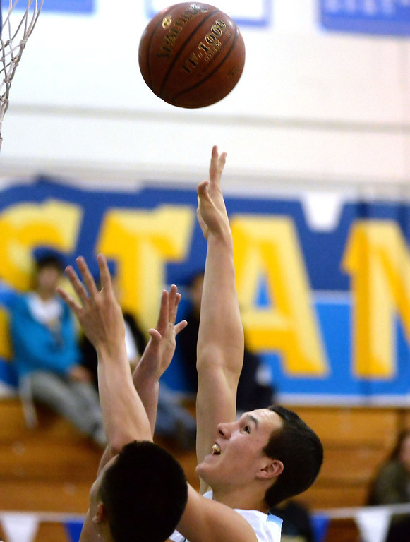 Description of . Walnut's Ryan Herrera drives to the basket against Los Altos in the second half of a prep basketball game at Walnut High School in Walnut, Calif., on Wednesday, Jan. 22, 2014. (Keith Birmingham Pasadena Star-News)