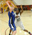 02-23-2012--(LANG Staff Photo by Sean Hiller)- Narbonne beat El Camino Real 47-39 in Saturday's L.A. City Section Division I semifinal girls basketball game. Narbonne's Lauryn Catching (10) guards  El Camino's Shaina Van Stryk (33).