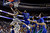Georgetown's Markel Starks (5) shoots against Florida Gulf Coast's Eric McKnight (12) during the first half of a second-round game of the NCAA college basketball tournament on Friday, March 22, 2013, in Philadelphia. (AP Photo/Matt Rourke)