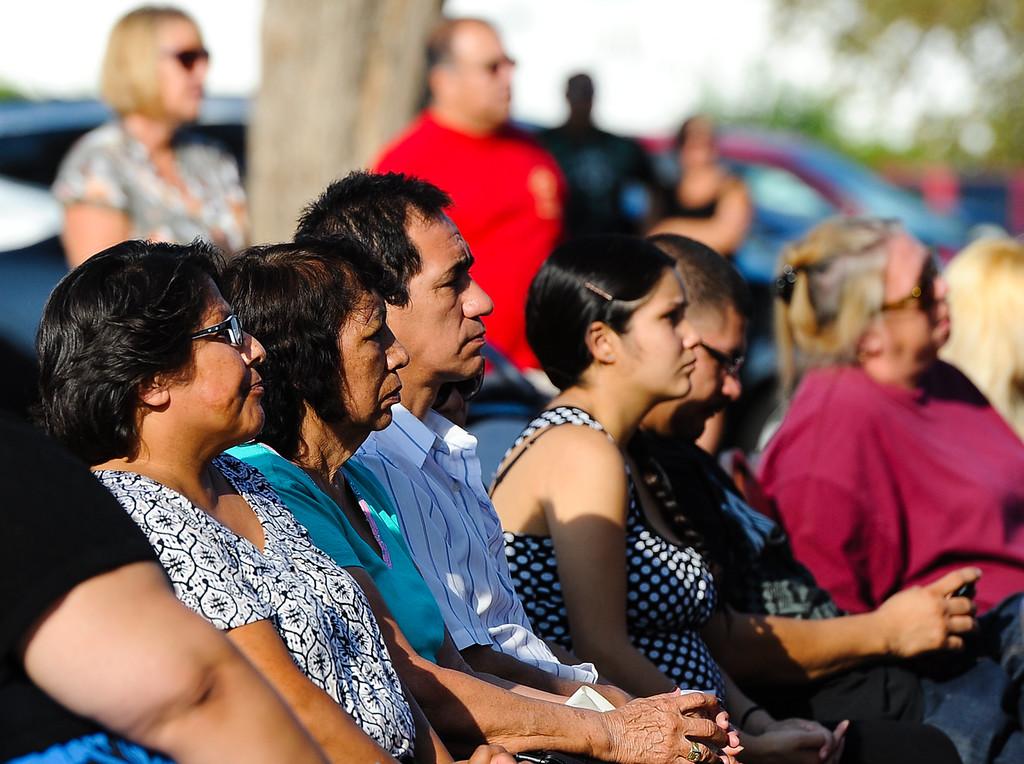 Description of . A 9/11 remembrance ceremony is held at the Public Safety Academy in San Bernardino on Wednesday, Sept. 11, 2013. (Photo by Rachel Luna / San Bernardino Sun)
