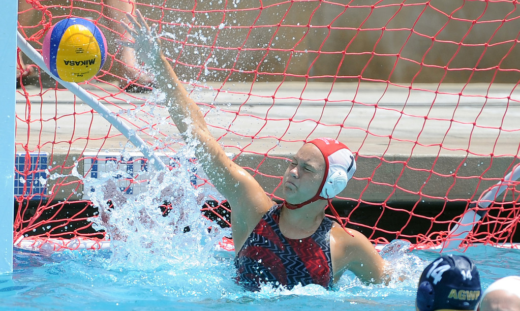 Description of . The Rose bowl team from Pasadena vs. Arroyo Grande during the USA Water Polo Junior Olympics at Splash! La Mirada Regional Aquatics Center on Thursday, Aug. 1, 2013 in La Mirada, Calif. 