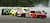 NASCAR driver Joe Nemechek (78) crashes into NASCAR driver Paul Menard (15) in turn two during the NASCAR Sprint Cup Series Pennsylvania 500 auto race at Pocono Raceway in Long Pond, Pa., Sunday, Aug. 3, 2008.  (AP Photo/Tom Kelly)