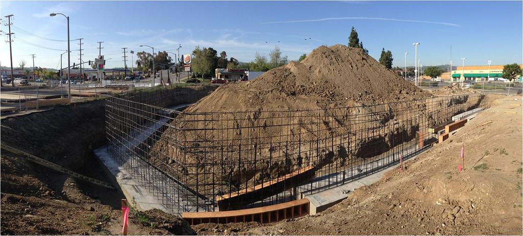 Description of . Nogales Avenue project underway in April.
