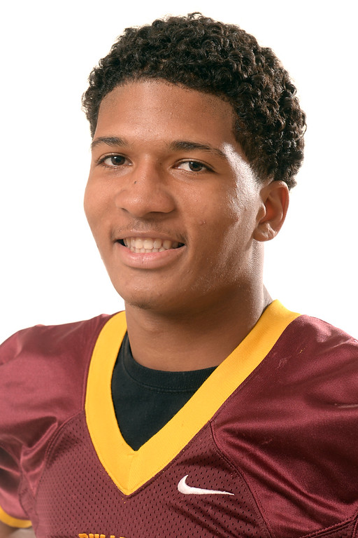 Description of . Sidney Jones from West Covina High School was selected to the San Gabriel Valley Tribune All-Area football team on Wednesday December 18, 2013.  (Staff Photo by Keith Durflinger/San Gabriel Valley Tribune)