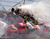NASCAR driver Ricky Craven (41) of Newburgh, Maine, flies through the air after tumbling through turn one of the Talladega Superspeedway during the Winston Select 500 Sunday, April 28, 1996.  Driving underneath Craven is Ricky Rudd (10) of Chesapeake, Va.  At right is pole sitter Ernie Irvan (28) of Modesto, Ca.  At least 12 cars were involved in the wreck that caused track officials to red flag the race for nearly an hour to make repairs to the catchfencing. (AP Photo/Ashley Fleming)