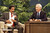 Richard Pryor holds a chicken while speaking with Johnny Carson on