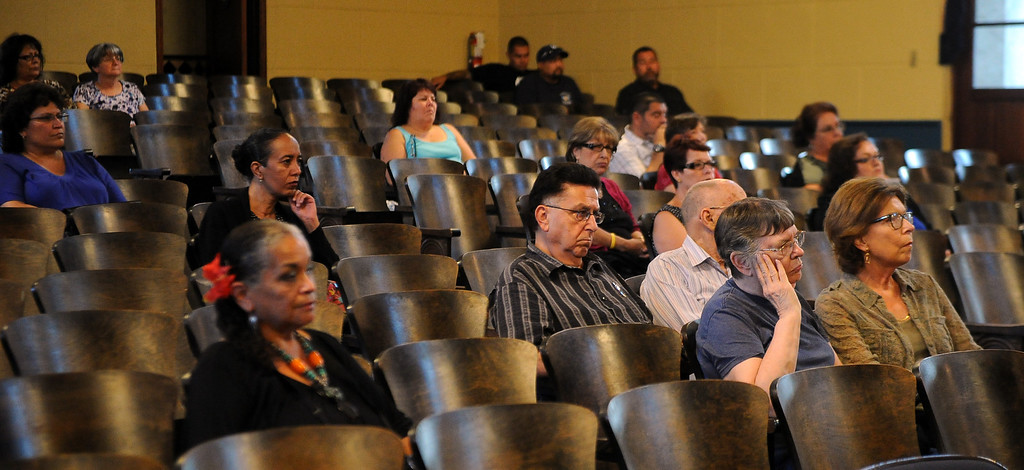 Description of . Locals listen during a Azusa Unified School District candidate forum at Azusa Civic Auditorium on Tuesday, Aug. 13, 2013 in Azusa, Calif.   (Keith Birmingham/Pasadena Star-News)