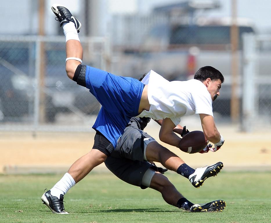 Description of . Marshall vs. San Gabriel during the San Gabriel Valley Shootout football passing league at Arroyo High School Saturday, July 13, 2013 in El Monte, Calif.   (Keith Birmingham/Pasadena Star-News)